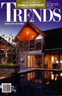 A cover feature article on Villa Hale Malia in TRENDS